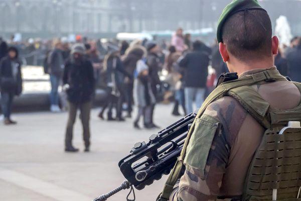 Patrouille de militaires de l'opération Sentinelle (Photo d'illustration)