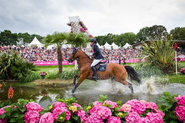 Le gué du Derby Tropicana au Jumping International de Dinard