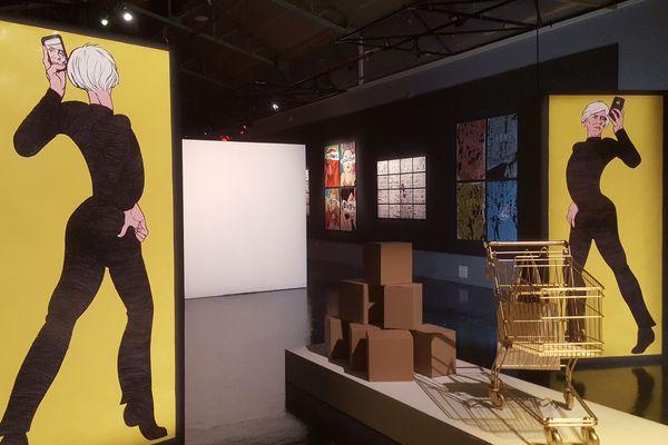 Expo phare des 16e rencontres du 9e art, celle sur Andy Warhol à la cité du livre Aix