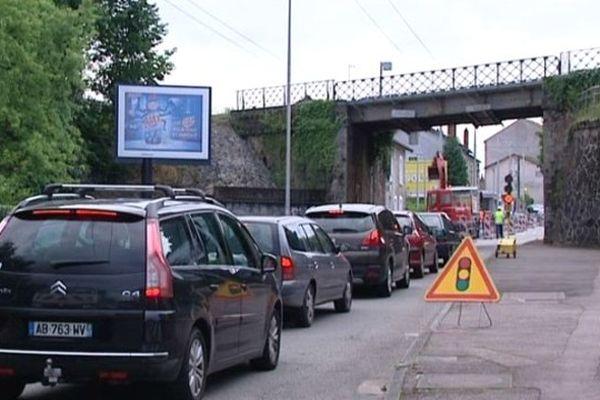 La rue Armand Dutreix pour l'instant en circulation alternée