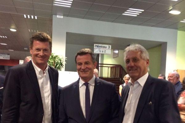 Les trois sénateurs élus dans le Puy-de-Dôme (de gauche à droite) : Eric Gold (LREM), Jean-Marc Boyer (LR) et Jacques-Bernard Magner (PS).
