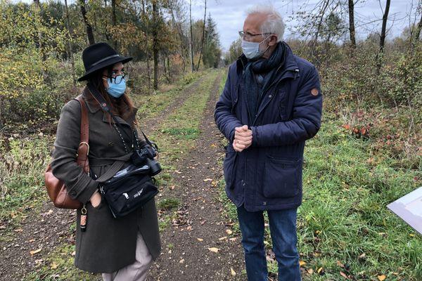La future professeur d'allemand et l'ancien enseignant se passionne tous les deux pour le site du Ban Saint-Jean.