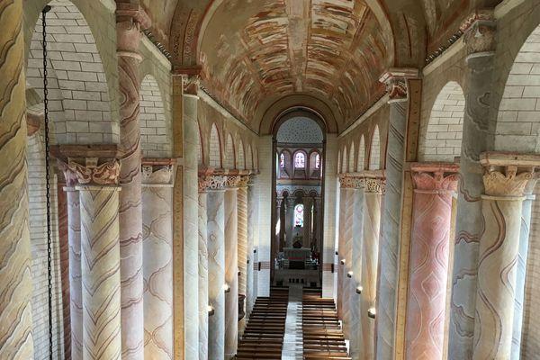 Saint-Savin (Vienne) - l'abbaye inscrite au patrimoine mondial de l'UNESCO depuis 1983 - avril 2019.
