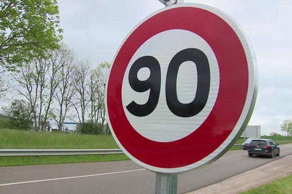 Le retour des 90 km/h sur certaines routes de la région