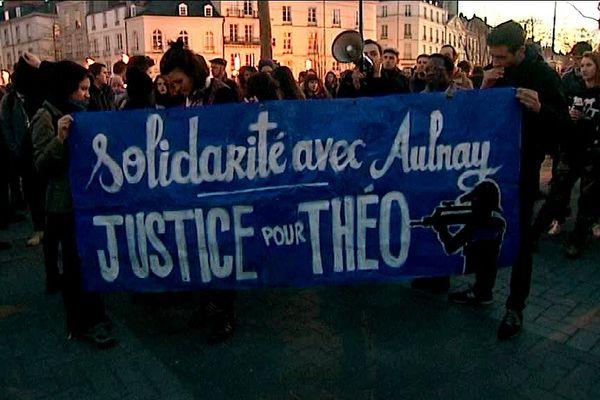 Une manif de soutien à Théo a eu lieu à Nantes ce mercredi 8 février 2017