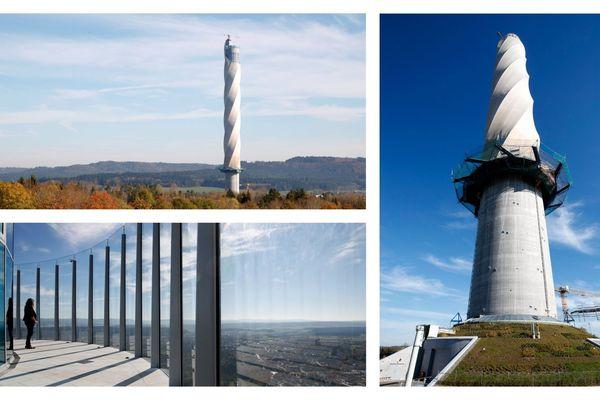La tour est haute de 232 mètres.