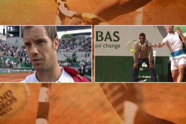 Richard Gasquet  a battu en trois sets Stakhovsky à Roland Garros