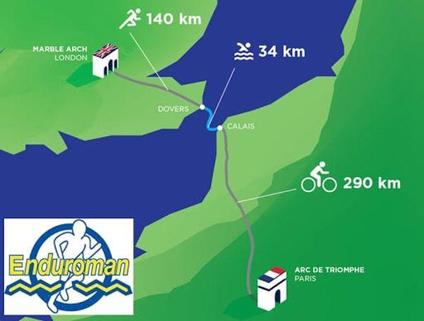 Les distances de l'Enduroman en font un ultra-triathlon