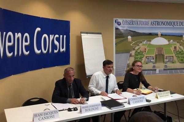 17/10/2017 - Christophe Canioni, tête de liste d'Avvene Corsu, a présenté sa démarche pour les élections territoriales en Corse.
