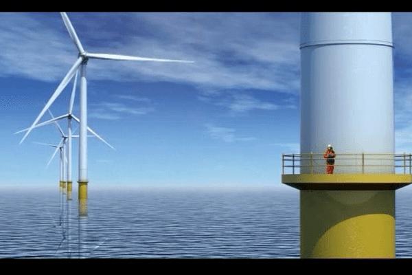 Un parc de 75 éoliennes off-shore  doit être installé au large de Courseulles-sur-Mer