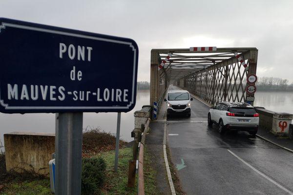 Le pont de Mauves, le 25 janvier 2019