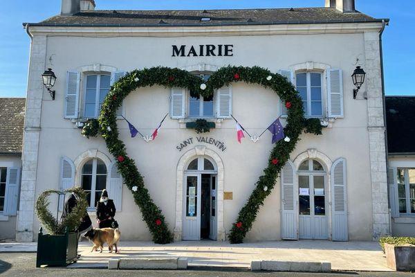 La mairie de Saint-Valentin, dans l'Indre.