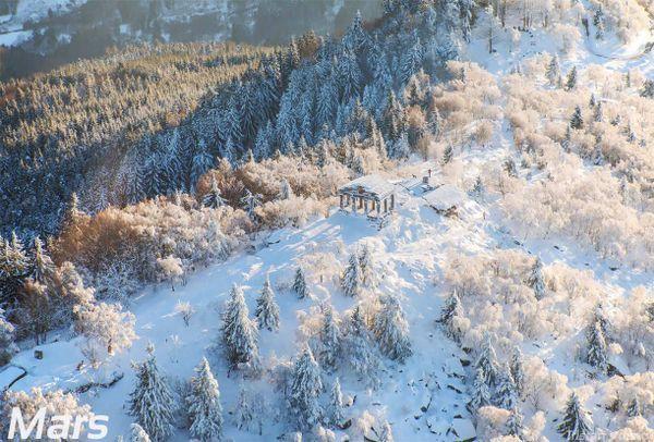 Le Temple du Donon, gelé.