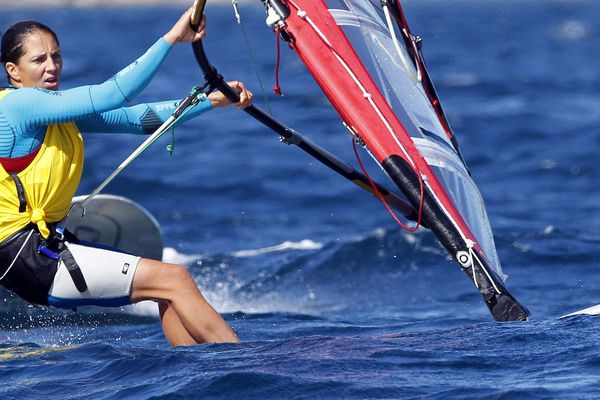 Charline Picon aux 6 jours de Santander en 2014.