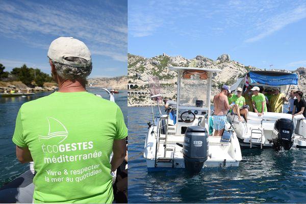 La campagne de sensibilisation Ecogestes en direction des plaisanciers a commencé début juillet et va se poursuivre jusque fin septembre.