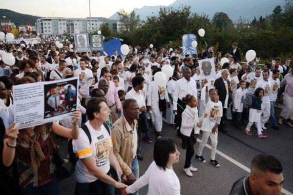 La marche blanche d'Echirolles contre la violence, le 2 octobre dernier