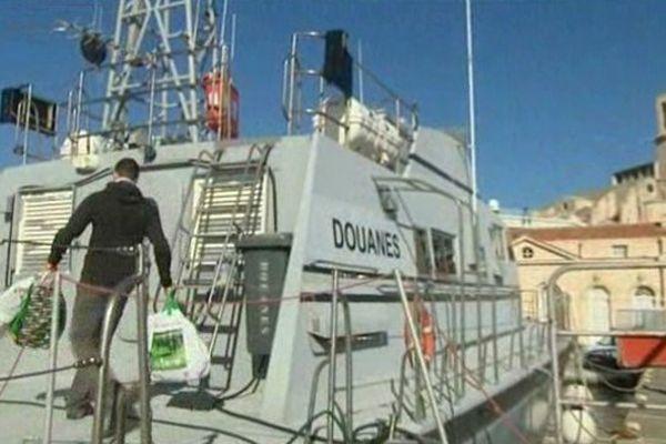 La vedette maritime des douanes à Marseille