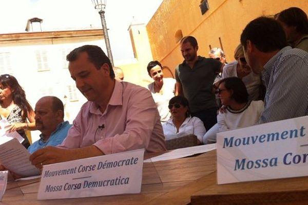Francois Tatti, le dimanche 6 juillet à Bastia, lors du lancement du MCD.