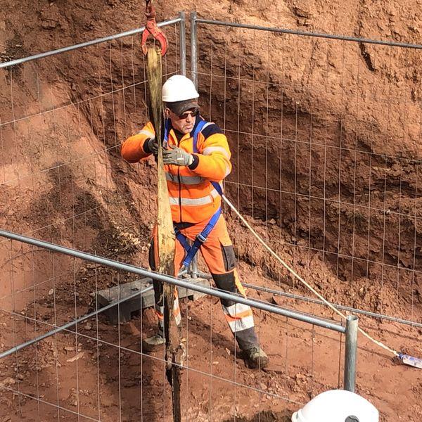 Un puit d'aération a dû également faire l'objet de travaux afin de permettre aux techniciens de travailler dans le souterrain.
