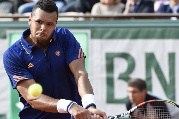 Tsonga lors du premier tour de Roland-Garros 2014