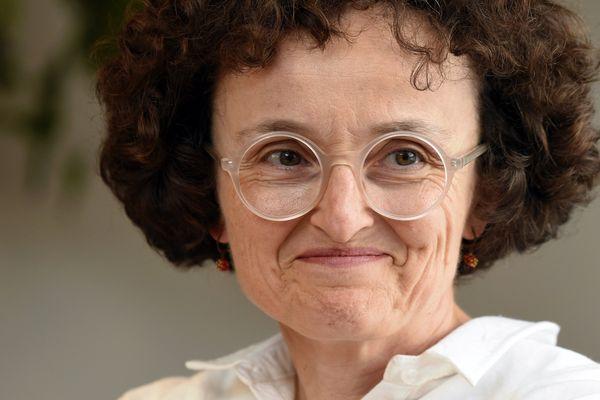 Marie-Hélène Lafon est en lice pour le prestigieux prix Goncourt (ici à Nancy, le 10 septembre 2016).