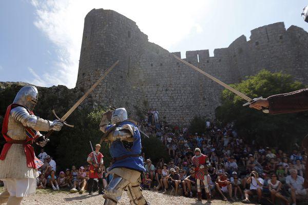 Festival médiéval au château de Peyrepertuse, dans l'Aude