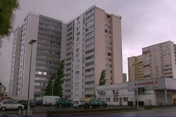 Le quartier de la Rabâterie, construit dans les années 60 à Saint Pierre des Corps (37)