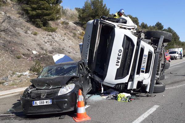 L'A55 fermée de mercredi après midi, jusqu à tard dans la soirée suite à un accident hors-norme.