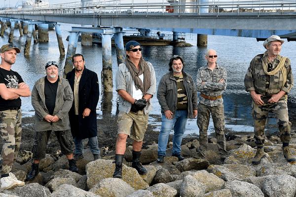 Le groupe Soldat Louis au cours d'une séance photo avant la sortie de leur prochain album