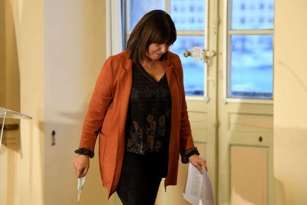 Michèle Rubirola, photographiée le jour où elle cédait sa place de maire au bénéfice de Benoît Payan.