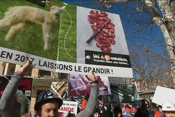 La L214 manifeste à Aix-en-Provence