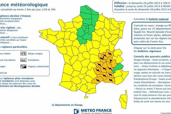 La région est particulièrement concernée par l'alerte vigilance.