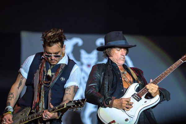 Johnny Depp et Joe Perry des Hollywood Vampires