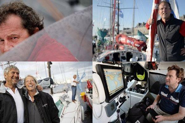 Lionel Lemonchois, Alvard Mabire et Miranda Merron, Marc Lepesqueux, Brieuc Maisonneuve, cinq Normands engagés dans la 10e édition de la Route du Rhum