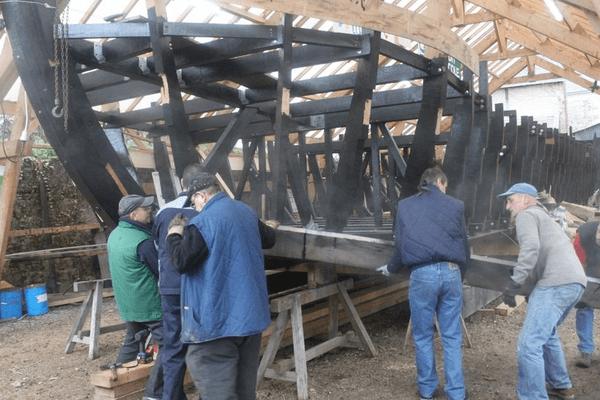 La construction du gabarot des Chalandoux