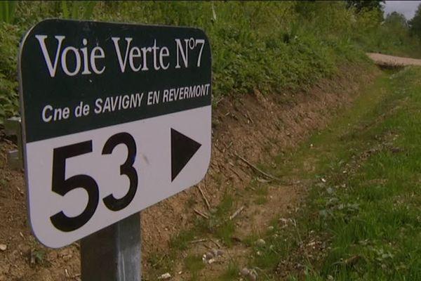 La Saône-et-Loire jouit désormais d'une nouvelle portion de 16 kilomètres de voie verte, entre Louhans et la limite du Jura, à Savigny-en-Revèremont.
