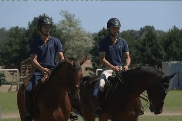 Les 15 cavaliers olympique français sont réunis pendant deux jours sur l'hippodrome de Saint-Martin de Bréhal dans la Manche