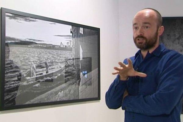 Cédric Gerbehaye dans l'exposition de Sète