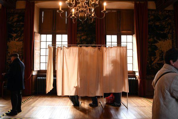 A Chartres, durant le 1er tour des élections municipales 2020.