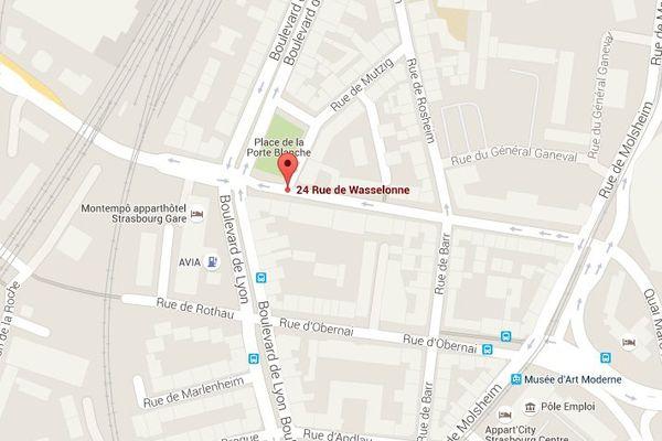 La victime, à pied, a été percutée au niveau du 24 rue de Wasselonne
