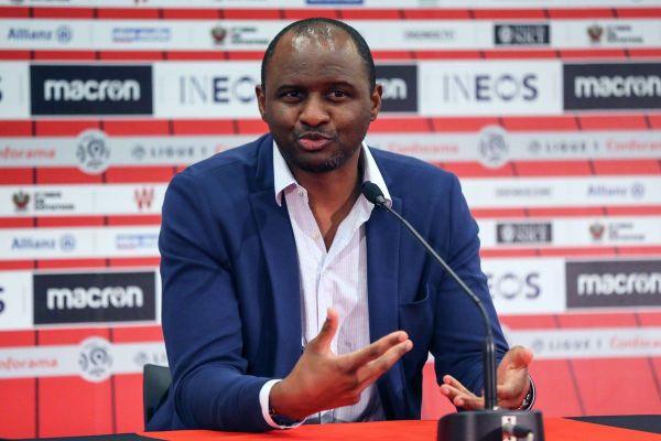 """L'entraîneur de Nice Patrick Vieira veut """"imposer"""" son jeu face au Bayer Leverkusen."""