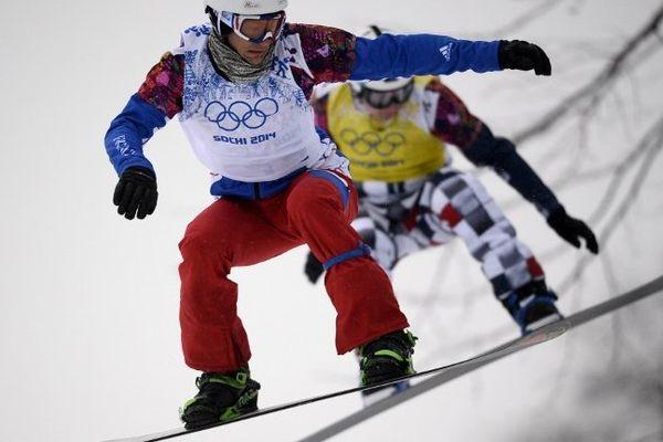 Tony Ramoin au premier plan lors de JO de Sochi.