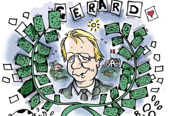 Le dessinateur Plantu a rendu hommage à Gérard Vandenbroucke via le compte twitter Cartooning for peace