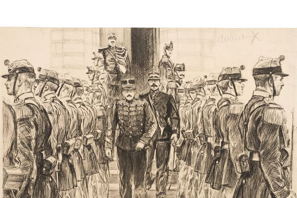 Le procès Dreyfus croqué par Maurice Feuillet