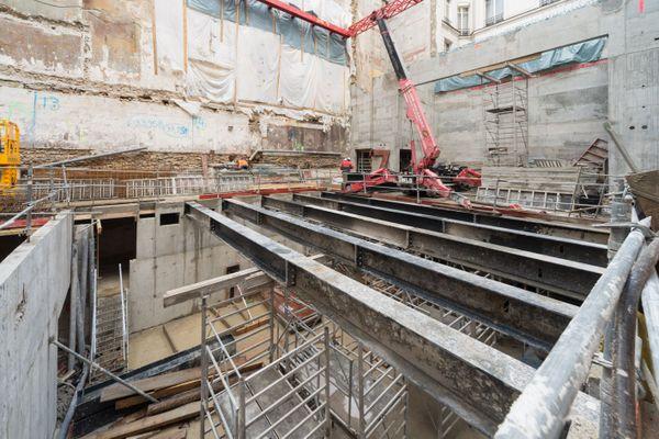 Construction de la scène de La Scala, janvier 2018