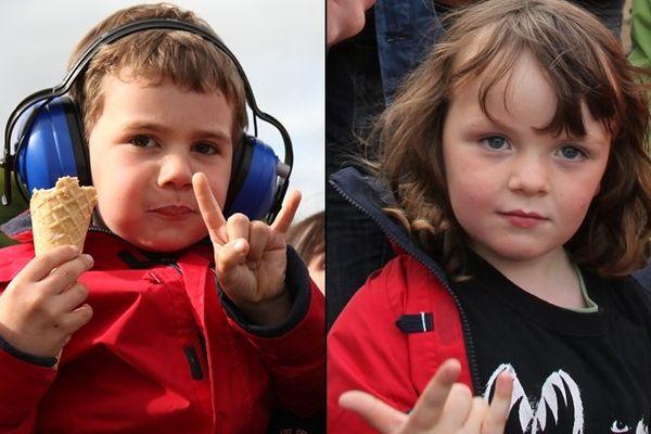 Romain et Madéo, 5 ans et métalleux