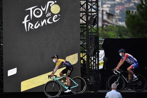 La présentation des 176 coureurs du Tour de France 2020 ce jeudi 27 août à Nice.