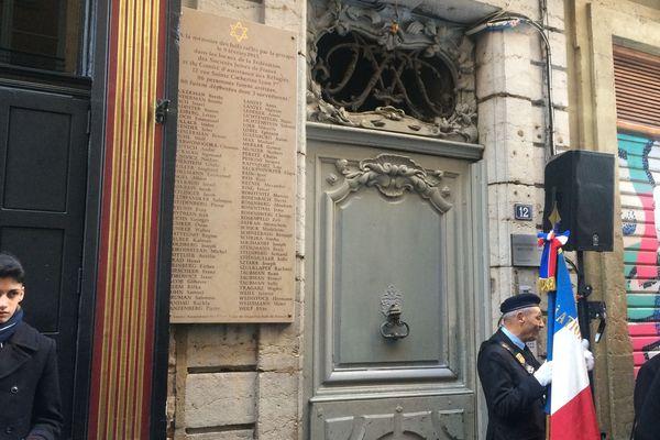 Commémoration de la rafle de la rue Sainte-Catherine à Lyon / 9 février 1943-9 février 2020