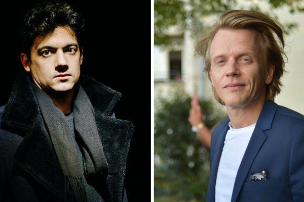 """A gauche, Clément Cogitore, nominé deux fois en catégorie court-métrage ; à droite, Alex Lutz, nominé pour son deuxième film """"Guy""""."""