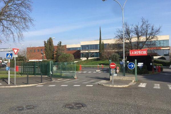 Le siège de la Dépêche du Midi avenue Jean Baylet à Toulouse.